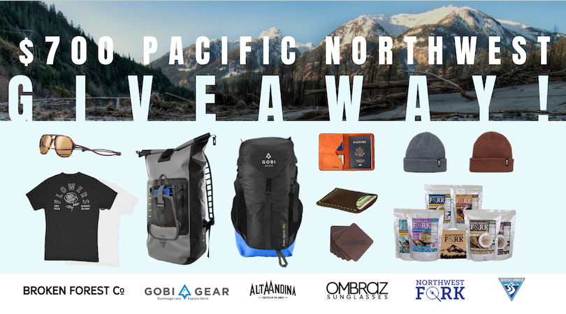 b963e21575 $700+ Pacific Northwest Giveaway
