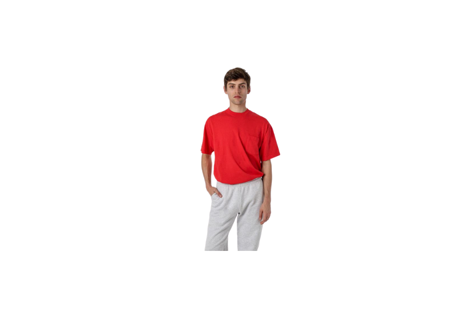 Short Sleeve Pocket T-Shirt in red