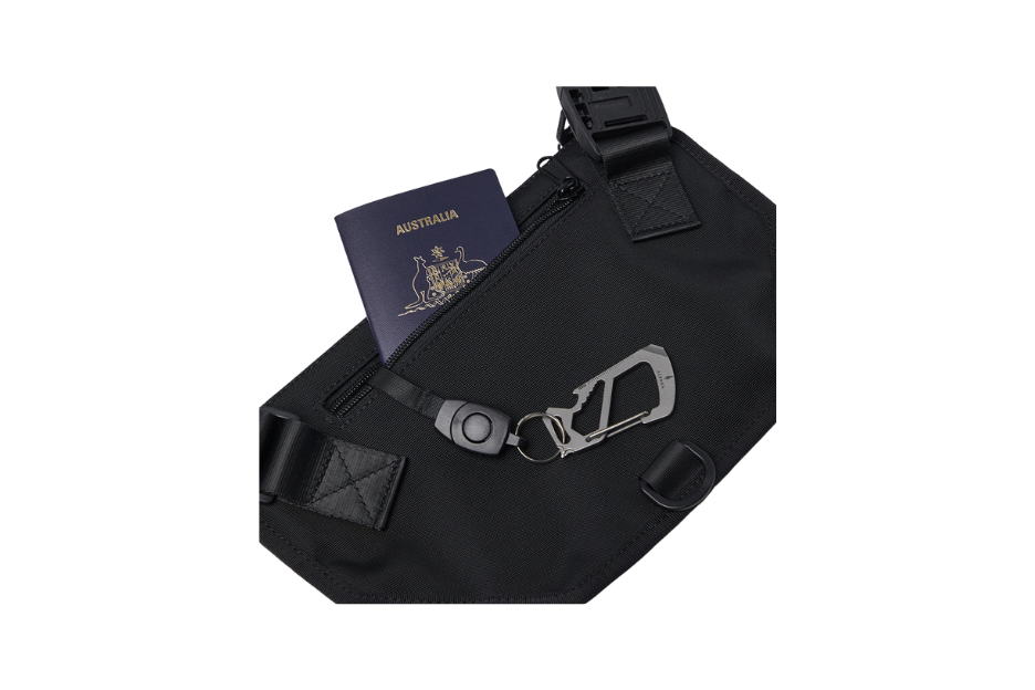 bag with passport inside