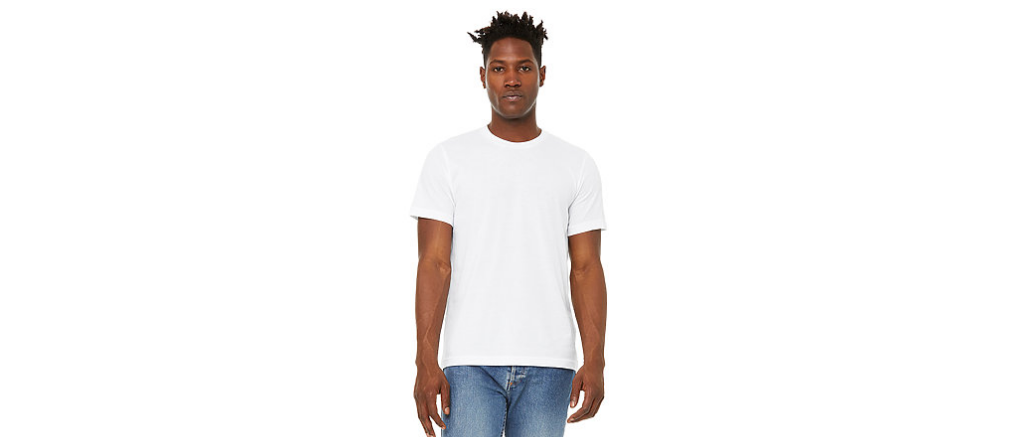 Print natural white basic tshirt 9